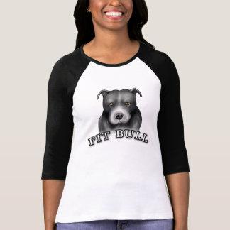 Pit Bull Dog Custom Design Dog Art Ladies Shirt