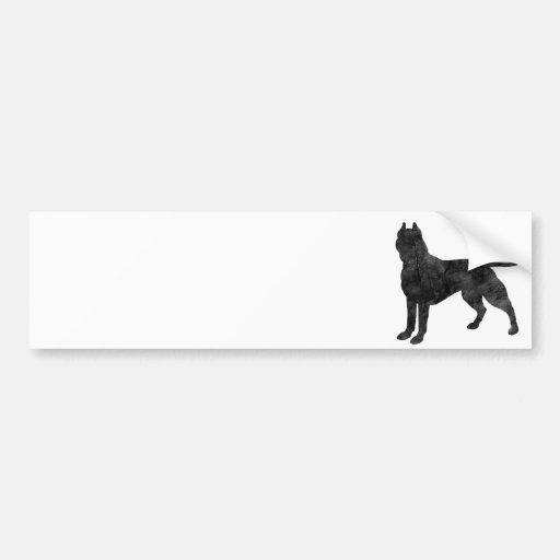 Pit Bull Dog Grunge Silhouette Bumper Stickers