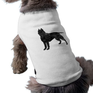 Pit Bull Dog Grunge Silhouette Pet Clothing