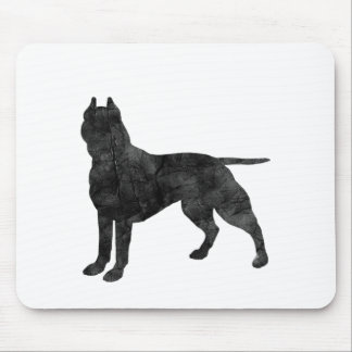 Pit Bull Dog Grunge Silhouette Mouse Pad
