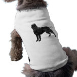 Pit Bull Dog Grunge Silhouette Pet Tee