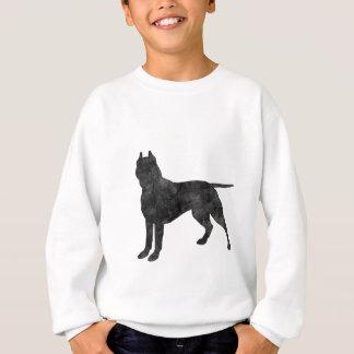 Pit Bull Dog Grunge Silhouette Sweatshirt