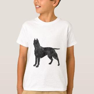 Pit Bull Dog Grunge Silhouette T-Shirt