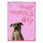 Pit Bull Dog Happy Valentine's Day Greeting Card