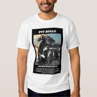 Pit Bull Facts Tee Shirt