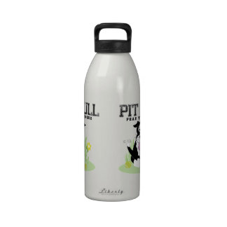 """Pit Bull """"Fear the Tongue"""" Water Bottle"""