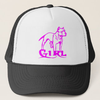 PIT BULL GIRL TRUCKER HAT