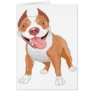 Pit Bull Blank Greeting Cards