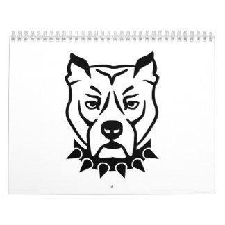 Pit bull head face calendar