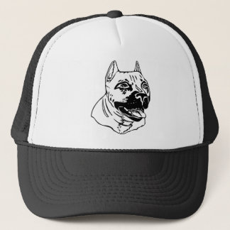 PIT BULL HEAD TRUCKER HAT