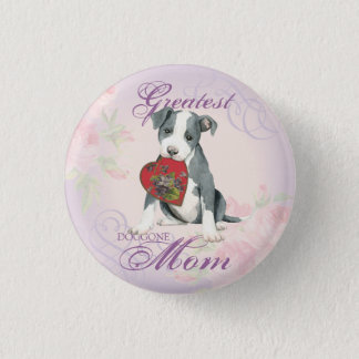 Pit Bull Heart Mom Button