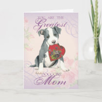 Pit Bull Heart Mom Card