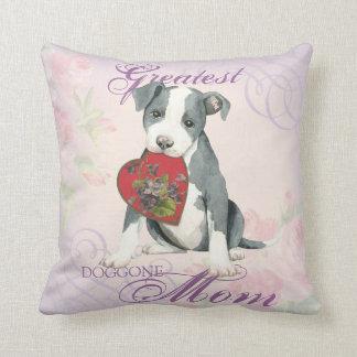 Pit Bull Heart Mom Pillow