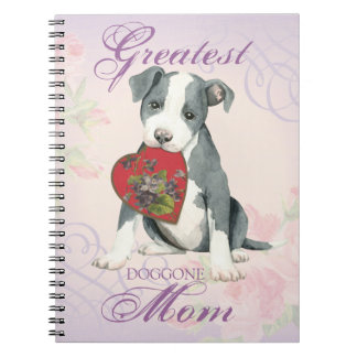 Pit Bull Heart Mom Spiral Notebook