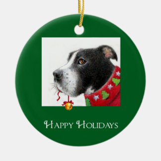 Pit Bull Holiday Ornament