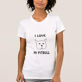 Pit bull, I LOVE, MY PITBULL T-Shirt