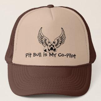 Pit Bull is My Co-Pilot - Trucker Style Ball Cap