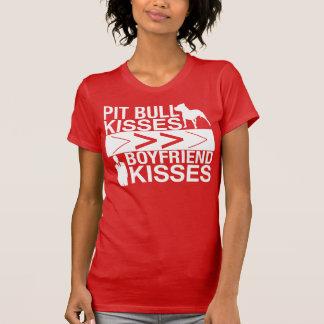 Pit Bull Kisses Are Greater Than Boyfriend Kisses Tshirts
