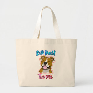 Pit Bull Love Canvas Bag