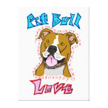 Pit Bull Love Canvas Print