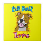 Pit Bull Love Ceramic Tile