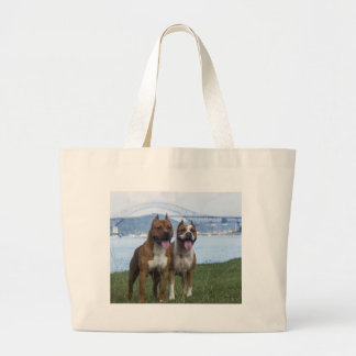 Pit Bull Love Couple Large Tote Bag