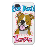 Pit Bull Love Case For iPhone 4