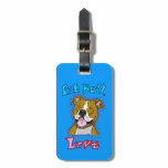 Pit Bull Love Luggage Tag