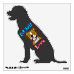 Pit Bull Love Wall Decal