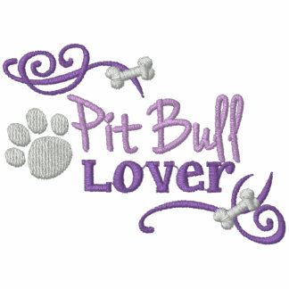 Pit Bull Lover Embroidered Hooded Sweatshirt