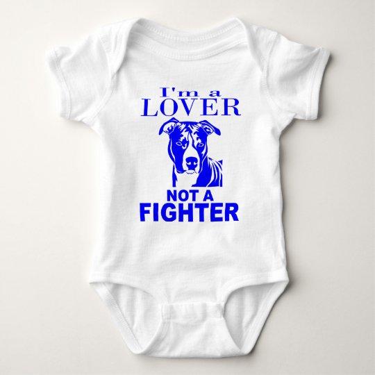 PIT BULL LOVER NOT A FIGHTER BABY BODYSUIT