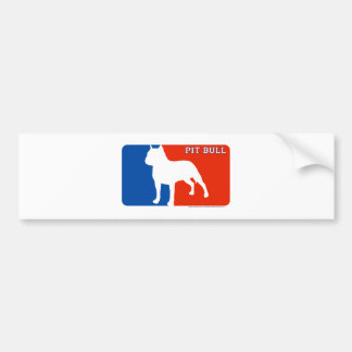 Pit Bull Major League Dog Bumper Sticker