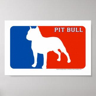Pit Bull Major League Dog Print