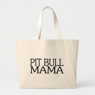 Pit Bull Mama Large Tote Bag