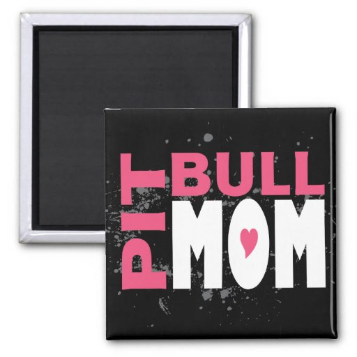 Pit Bull Mom 2 Inch Square Magnet