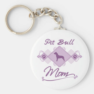 Pit Bull Mom Key Chains
