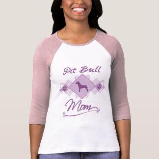 Pit Bull Mom Tee Shirts
