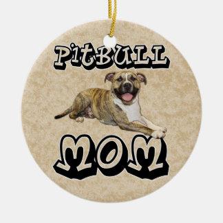 Pit Bull MOM - Tigger Ceramic Ornament