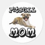 Pit Bull MOM - Tigger Classic Round Sticker