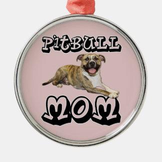 Pit Bull MOM - Tigger Metal Ornament