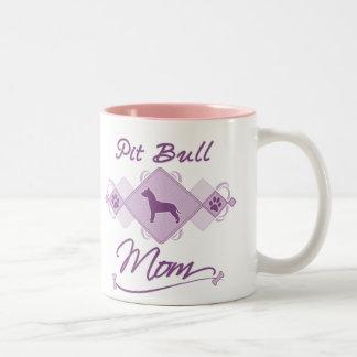 Pit Bull Mom Two-Tone Coffee Mug