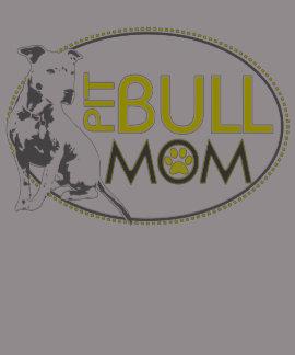 Pit Bull Mom - Yellow & Gray Tee Shirt