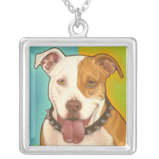 Pit Bull necklace in sterling silver