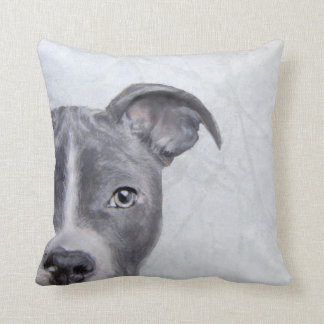 Pit bull original design by Miart Throw Pillow