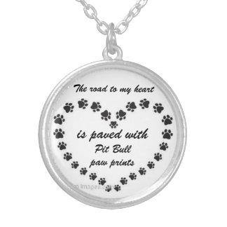 Pit Bull Paw Prints Custom Necklace