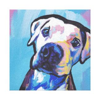 pit bull pitbull fun pop art canvas print