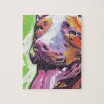 pit bull pitbull fun pop art jigsaw puzzle