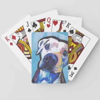 pit bull pitbull fun pop art poker cards