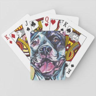 pit bull pitbull fun pop art poker deck