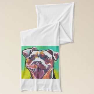 pit bull pitbull fun pop art scarf